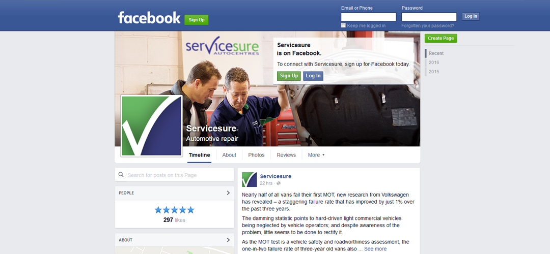 Servicesure goes Social