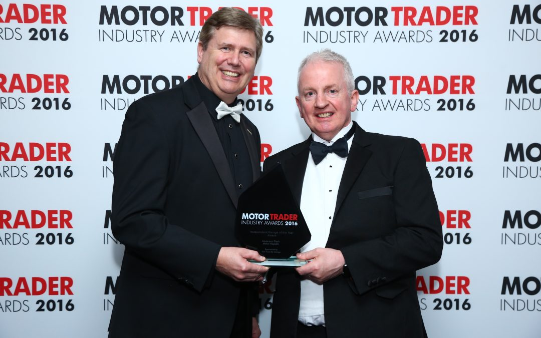 Servicesure Autocentre Anderson Clark Motor Repairs voted Best Independent Garage of the Year in 2016 Motor Trader Industry Awards