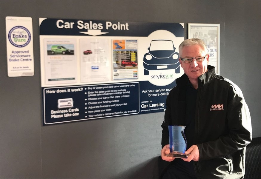 Servicesure garage makes it two years in a row for Outstanding Achievement Award
