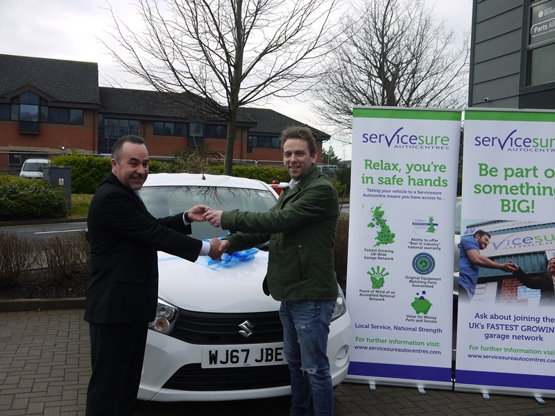 East Sussex garage customer wins car with Servicesure