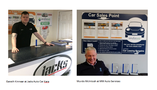 Servicesure garages both win Car Leasing Awards