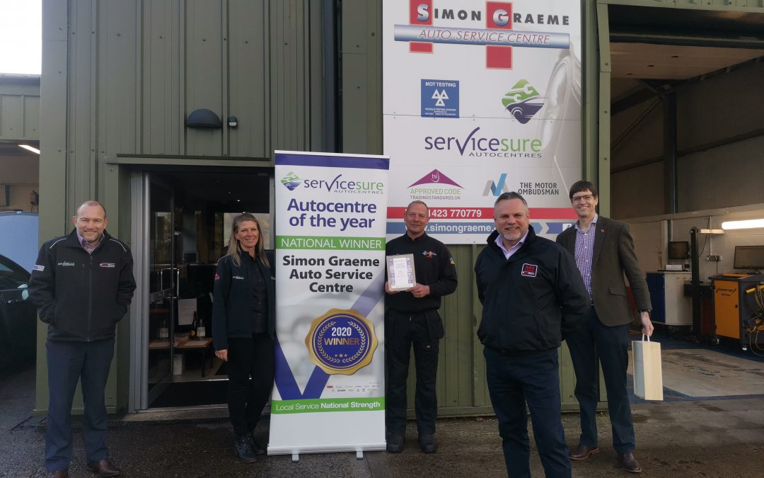 Simon Graeme Auto Service Centre Named Servicesure Autocentre of The Year